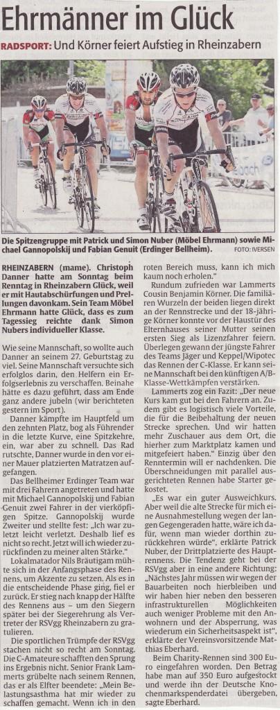 Rheinpfalz vom 16. Juli 2013