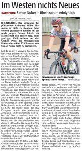 Nachbericht Rheinpfalz, 15.05.2017