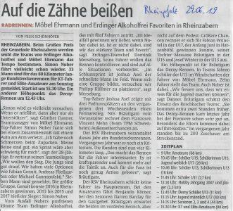 Vorbericht Rheinpfalz